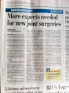 More experts needed for new joint surgeries
